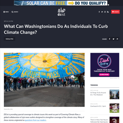 What Can Washingtonians Do As Individuals To Curb Climate Change?   DCist