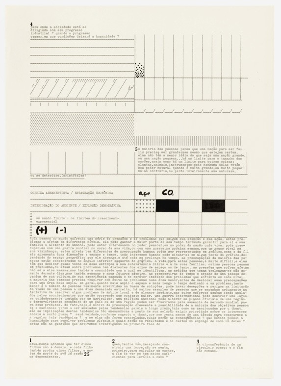Mira Schendel, Untitled from the series Datiloscritos (Typed writings)