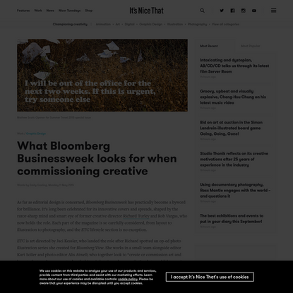 What Bloomberg Businessweek looks for when commissioning creative