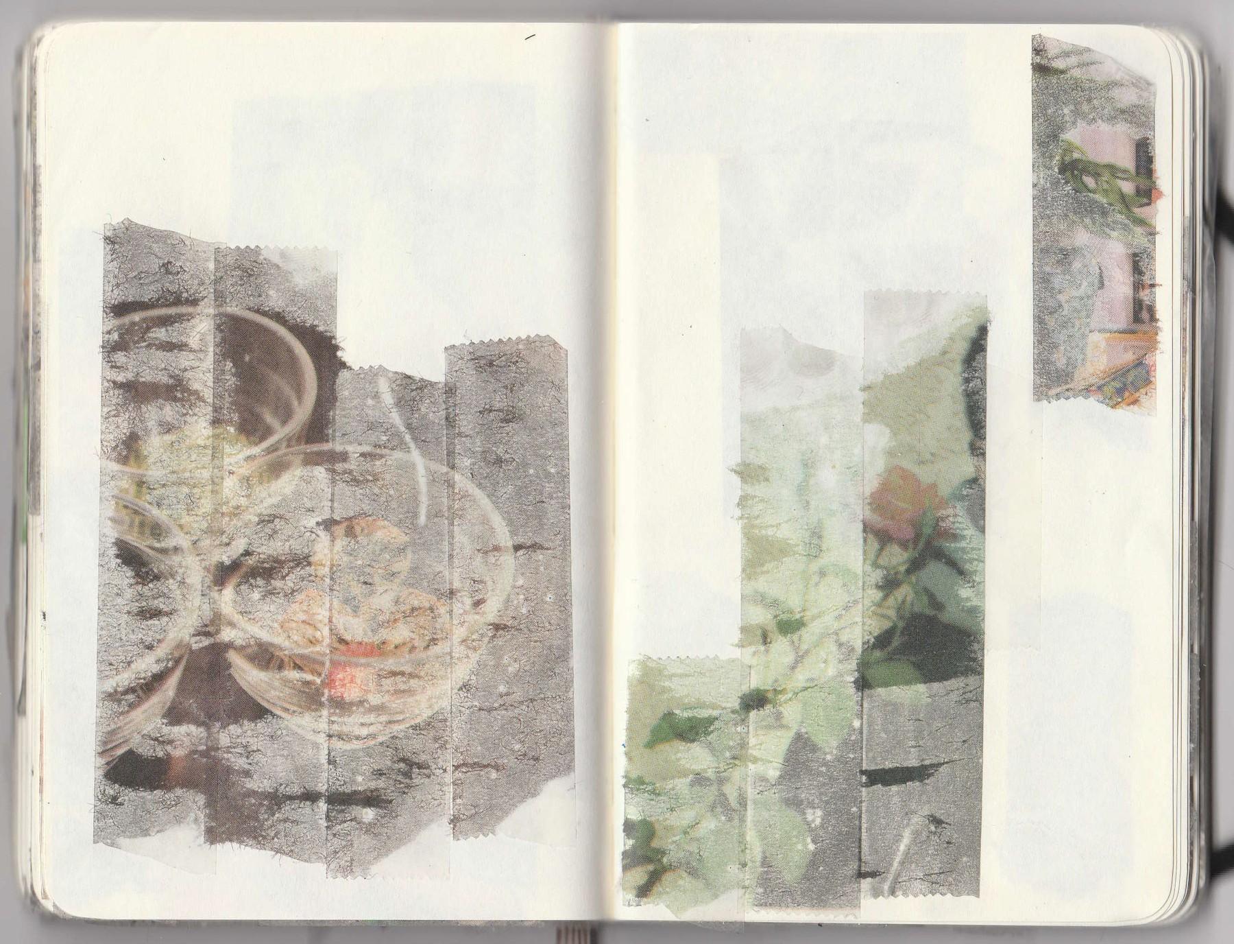 Christopher Schreck, Tape Transfers, sketchbook, 2019