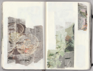 Christopher Schreck, Tape Transfers, sketchbook, 2019