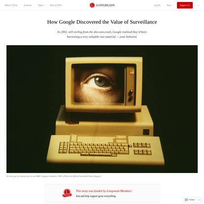 How Google Discovered the Value of Surveillance