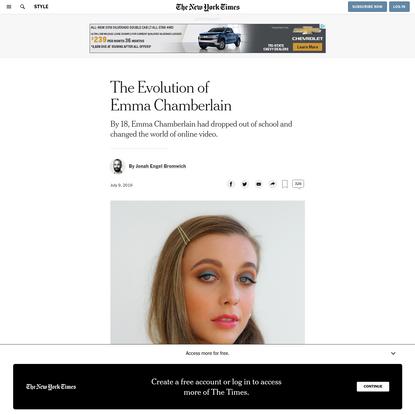 The Evolution of Emma Chamberlain