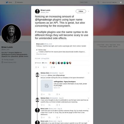 Brian Lovin on Twitter
