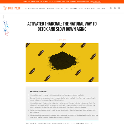 Activated Charcoal: The Natural Way to Detox and Slow Down Aging
