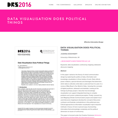 Data Visualisation Does Political Things - DRS2016
