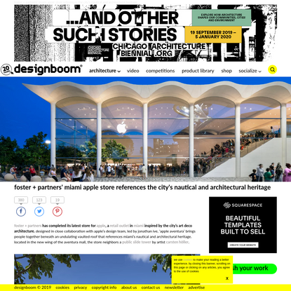 foster + partners completes miami's latest apple store