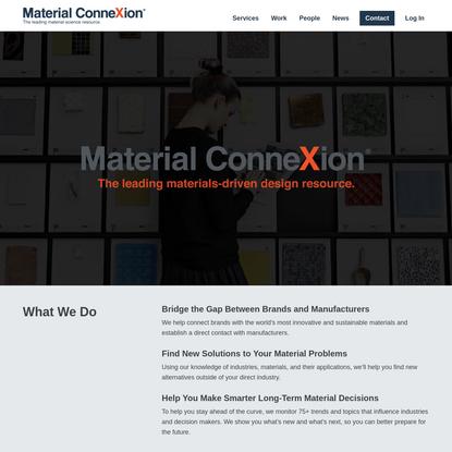Material ConneXion: Leading Design Resource