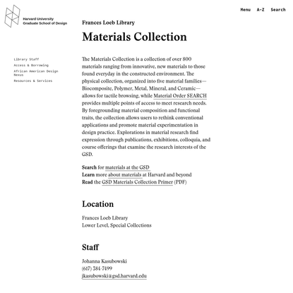 Materials Collection