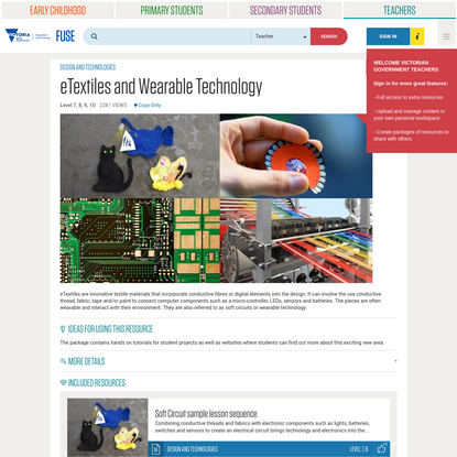 eTextiles and Wearable Technology