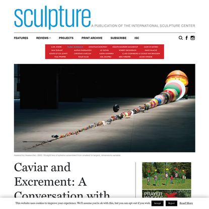 Caviar and Excrement: A Conversation with Wilfredo Prieto - Sculpture
