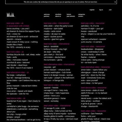 video genre categories - ukmva 2019