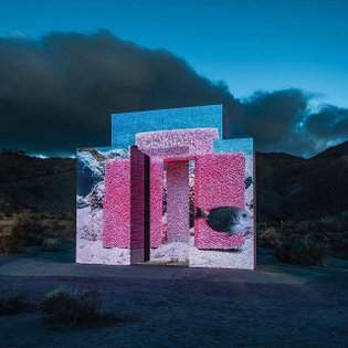 Scene from #DesertX2019: 'Dive-In' by #Superflex reminds the viewer that climate change will drastically reshape the habitat...