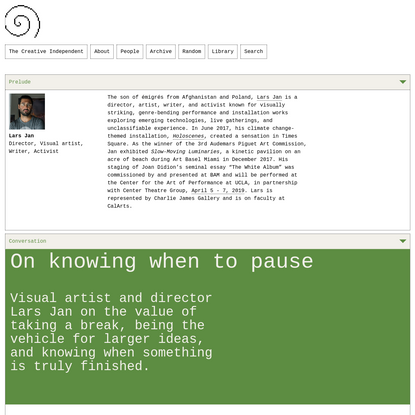 On knowing when to pause