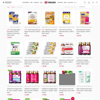 Supplements Archives - TAKASKI.COM