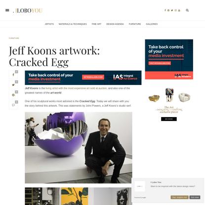 Jeff Koons artwork: Cracked Egg