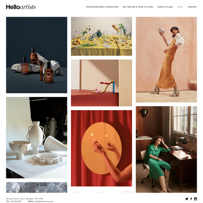 Hello Artists - A boutique agency representing artists whose work and careers navigate between the worlds of commercial and ...