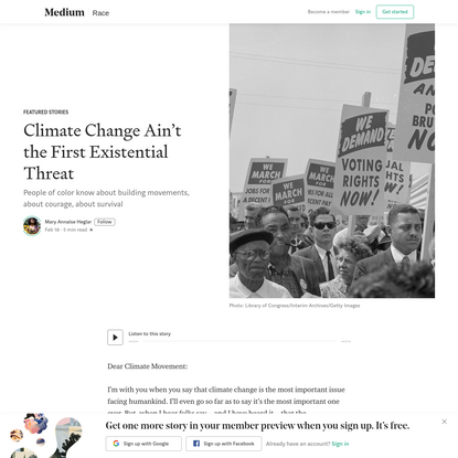 Climate Change Ain't the First Existential Threat