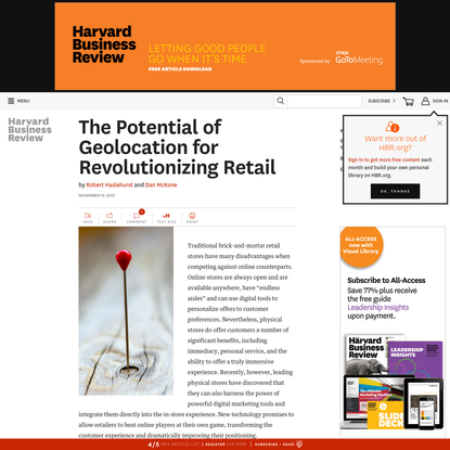 The Potential of Geolocation for Revolutionizing Retail