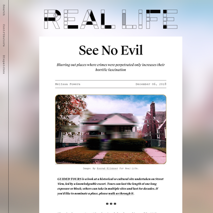 See No Evil by Melissa Powers for Real Life Mag