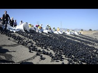 Shade Balls Are Released into the Los Angeles Water Reservoir (VIDEO)