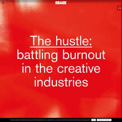 The hustle: battling burnout in the creative industries
