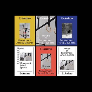 Ex Animo House Flyer Design Studies, Editorial, 2019 by #studioabraham Ex Animo House of Movement Arts & Sports is a contemp...