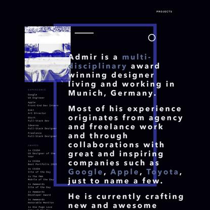 Admir Hadzic / Art Director & Developer