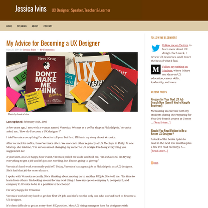 My Advice for Becoming a UX Designer