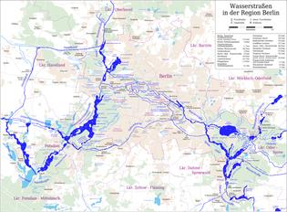 Map of the Waterways of Berlin