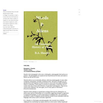 Benjamin A. Huseby: Weeds & Aliens - Torpedo Press