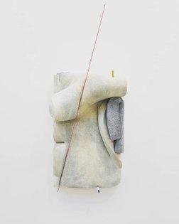 "When concrete seems to be fragile ❤ Focus on the work of Dave Hardy @mrdavehardy at @galeriechristophegaillard, "" G = 9,8 N...."
