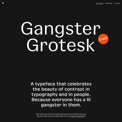 Gangster Grotesk - Free Fonts