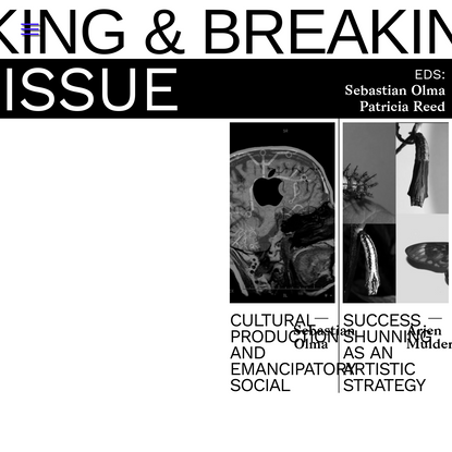 Issue 01   Making & Breaking