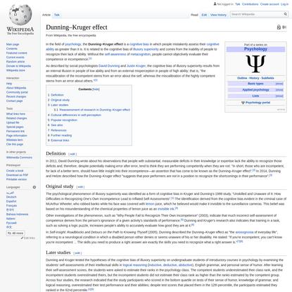 Dunning–Kruger effect - Wikipedia