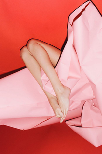 Pink | Feet | Colour | Red | Paper | Art Direction | tumblr_nnhbkjt9us1qcn2ggo1_1280.jpg