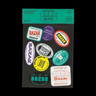 Sticker pack [8 + 1] for @bazar.pvp We will be part of @librosmutantes fair in Madrid (April 26-28th) Support us and take a ...