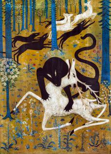Leopard and Deer, Robert Winthrop Chanler, 1912
