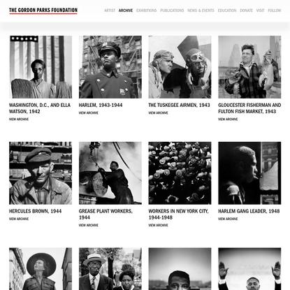 Archive - The Gordon Parks Foundation