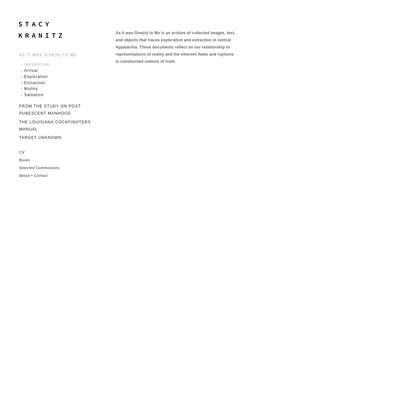- Introduction - STACY KRANITZ