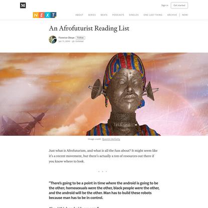 An Afrofuturist Reading List
