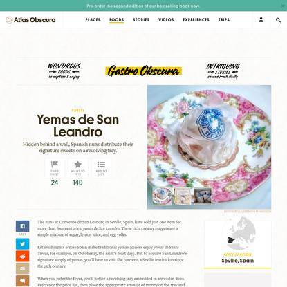 Yemas de San Leandro