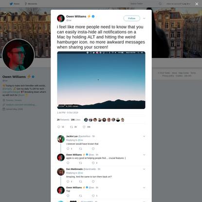 Owen Williams ⚡ on Twitter