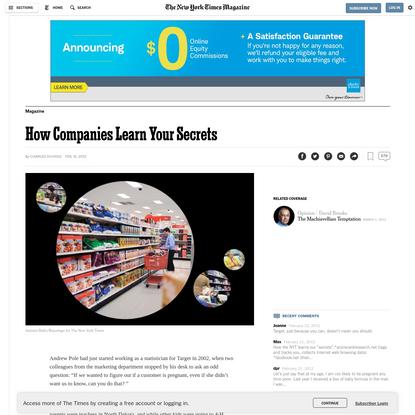 How Companies Learn Your Secrets