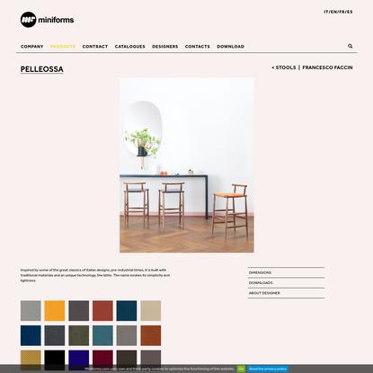 Chair pelleossa by francesco faccin . miniforms