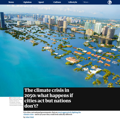 The climate crisis in 2050: what happens if cities act but nations don't?
