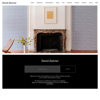 Protected page - Enter Email | David Zwirner