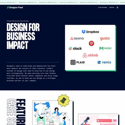 Design For Business Impact | Designer Fund