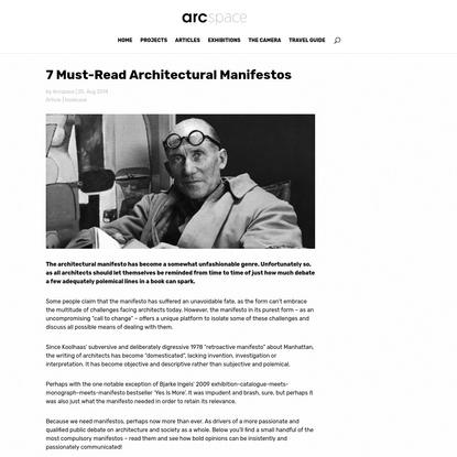 7 Must-Read Architectural Manifestos / Article   arcspace.com