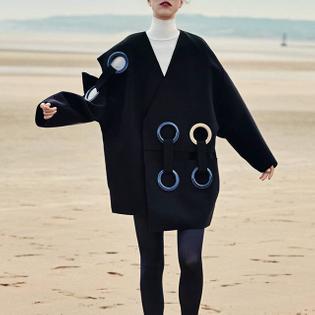 """The Statement of the Art"" editorial, Harper's Bazaar Germany October 2015, model Hedvig Palm, ph. Gregor Hohenberg, stylist Kerstin Schneider"